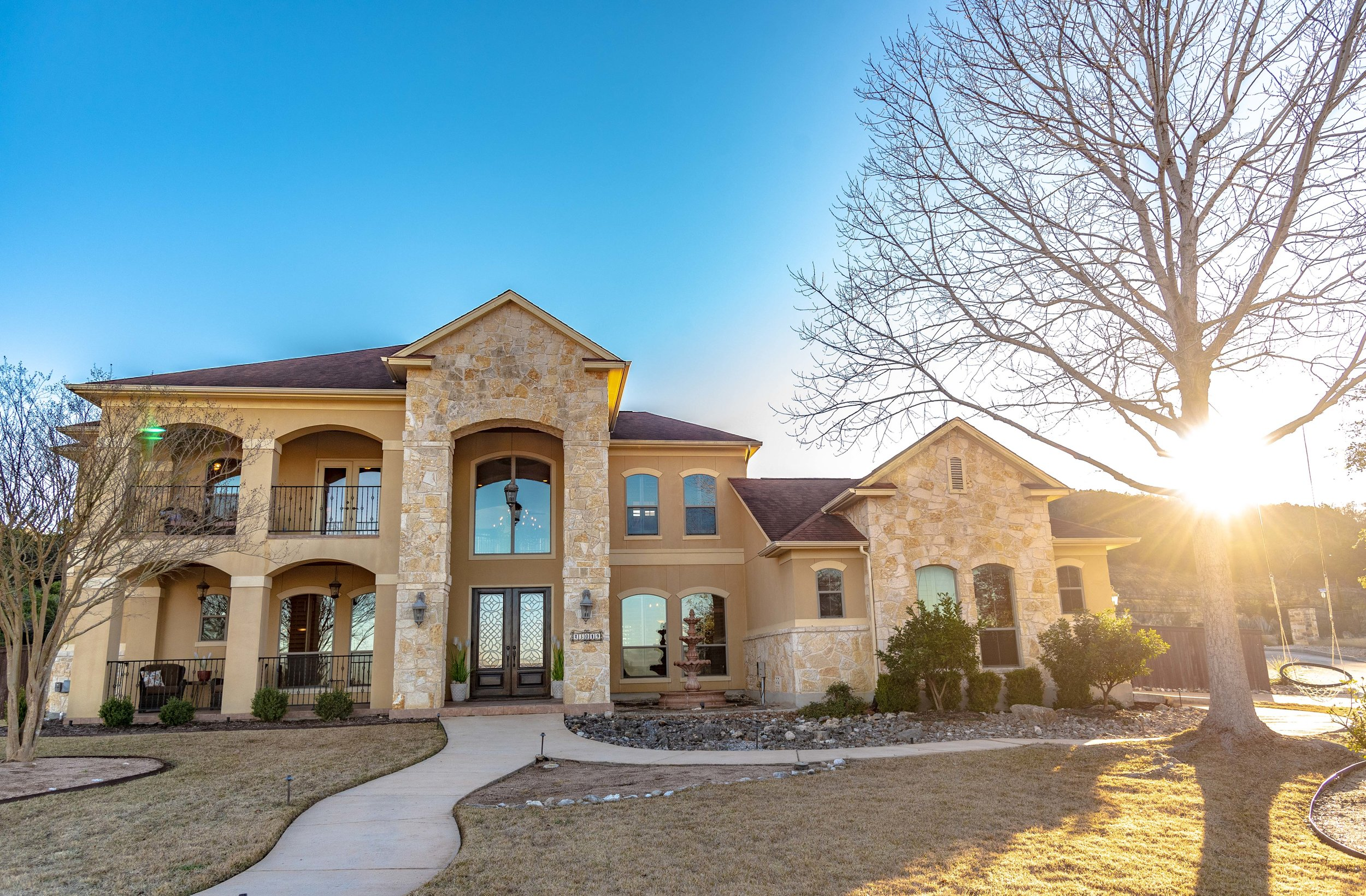 "I find that the best time to take real estate photos is in the evening, anywhere from 5:30 to 7:30 is optimal. This allows for softer shadows and a setting sun that you can use within your photograph to maximize the ""wow"" factor of your image."