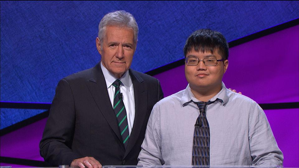 Arthur Chu (right) with Alex Trebek (left). Yup. That's our man, Arthur.