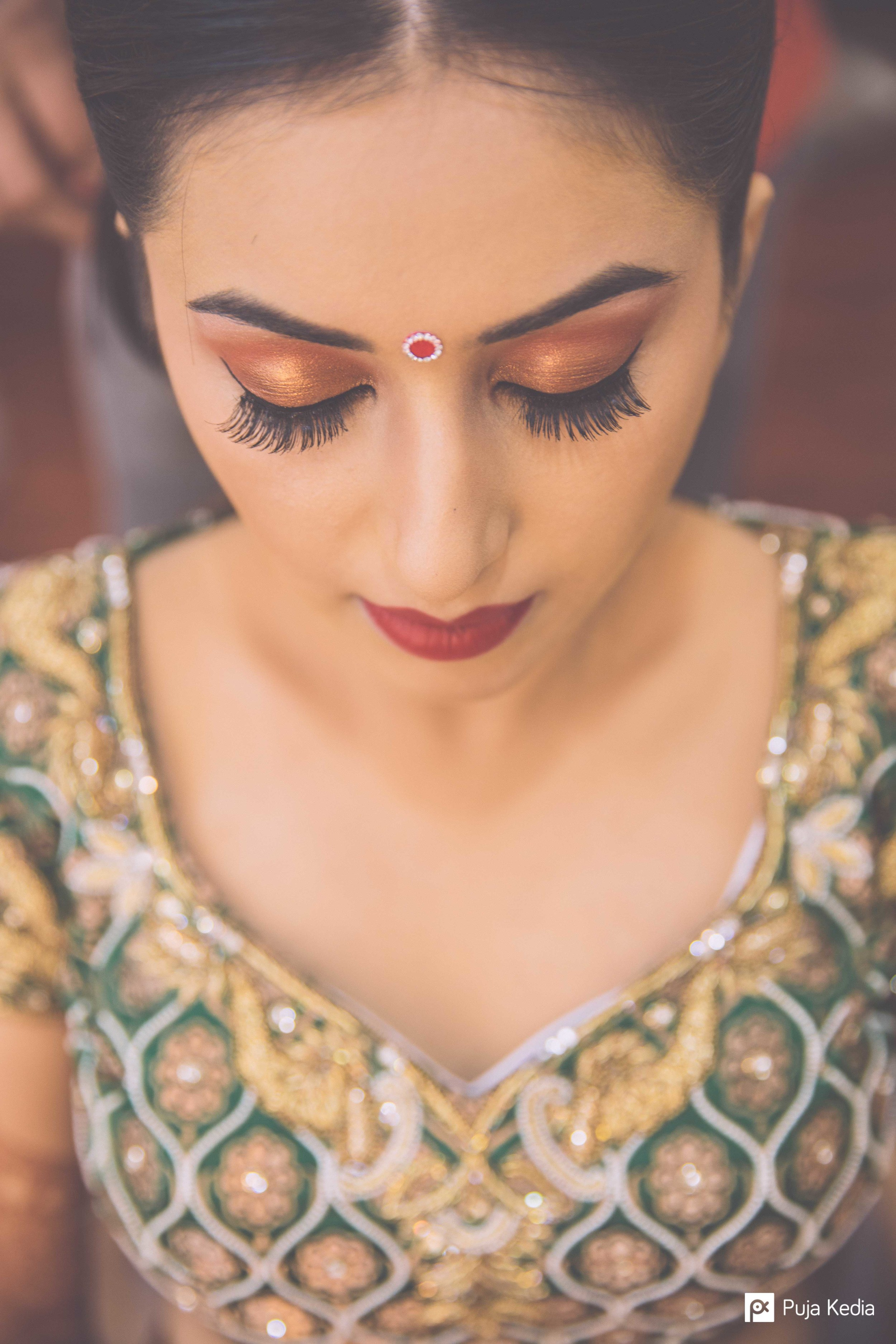 I really liked Make-Up which was very Subtle and Simple and yet highlighted the special features of the Bride.