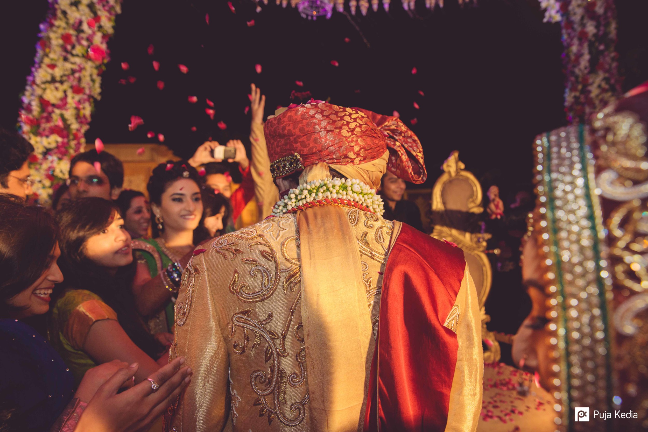 The Groom leading Her into his own world.