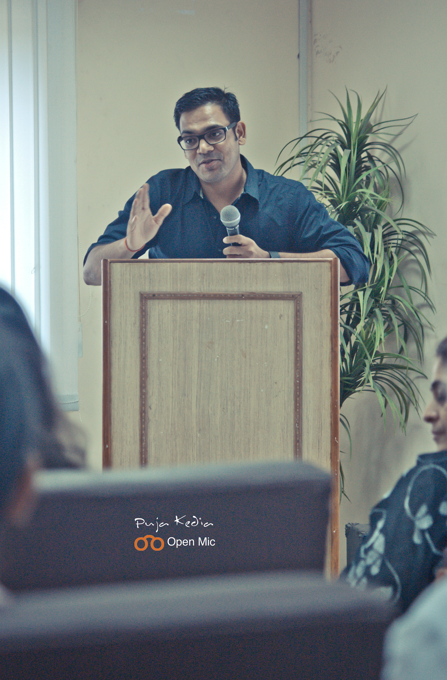 Prabhakar at Bookoholics Open Mic