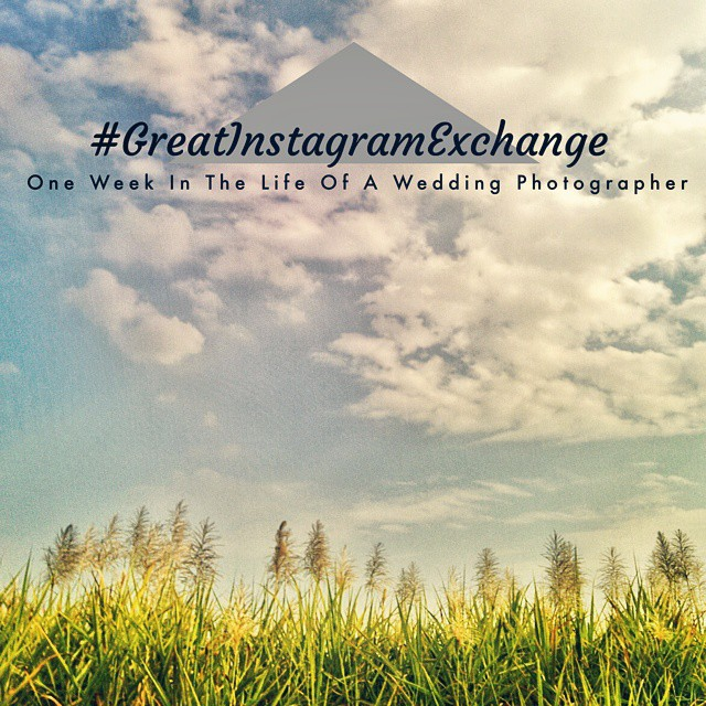 Let the #GreatInstagramExchange begin!  Have decided to document this next week at a part of the same and show you guys the world as I see it :) Stay Tuned.  #OneWeekInTheLifeOfAWeddingPhotographer   #Day1 #Nexus5