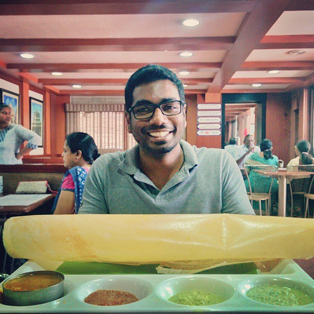 "#Day7 -  ""Hey Puja! Try this!"" Thank You so much Bala for taking us out for lunch to one of the must visit places in Chennai! The Saravana Bhavan. Loved it!  #ChennaiSpecial #ChennaiExpress  #OneWeekInLifeOfAWedfingPhotographer #PersonalProject #Chennai"