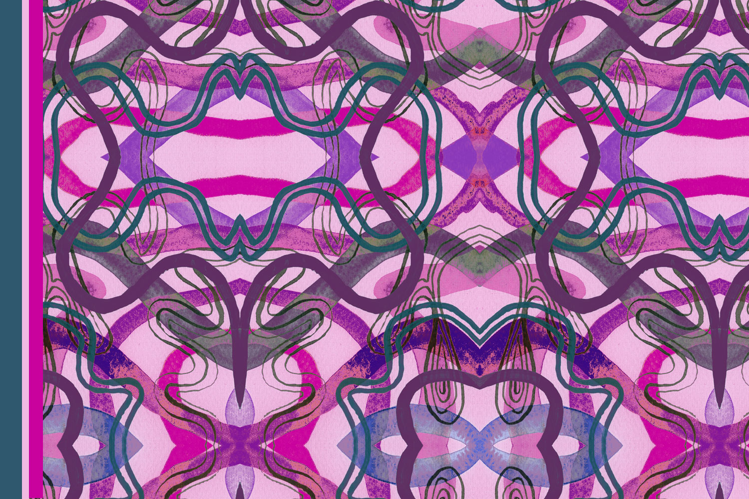 A hypnotic surface pattern design by Liz Nehdi