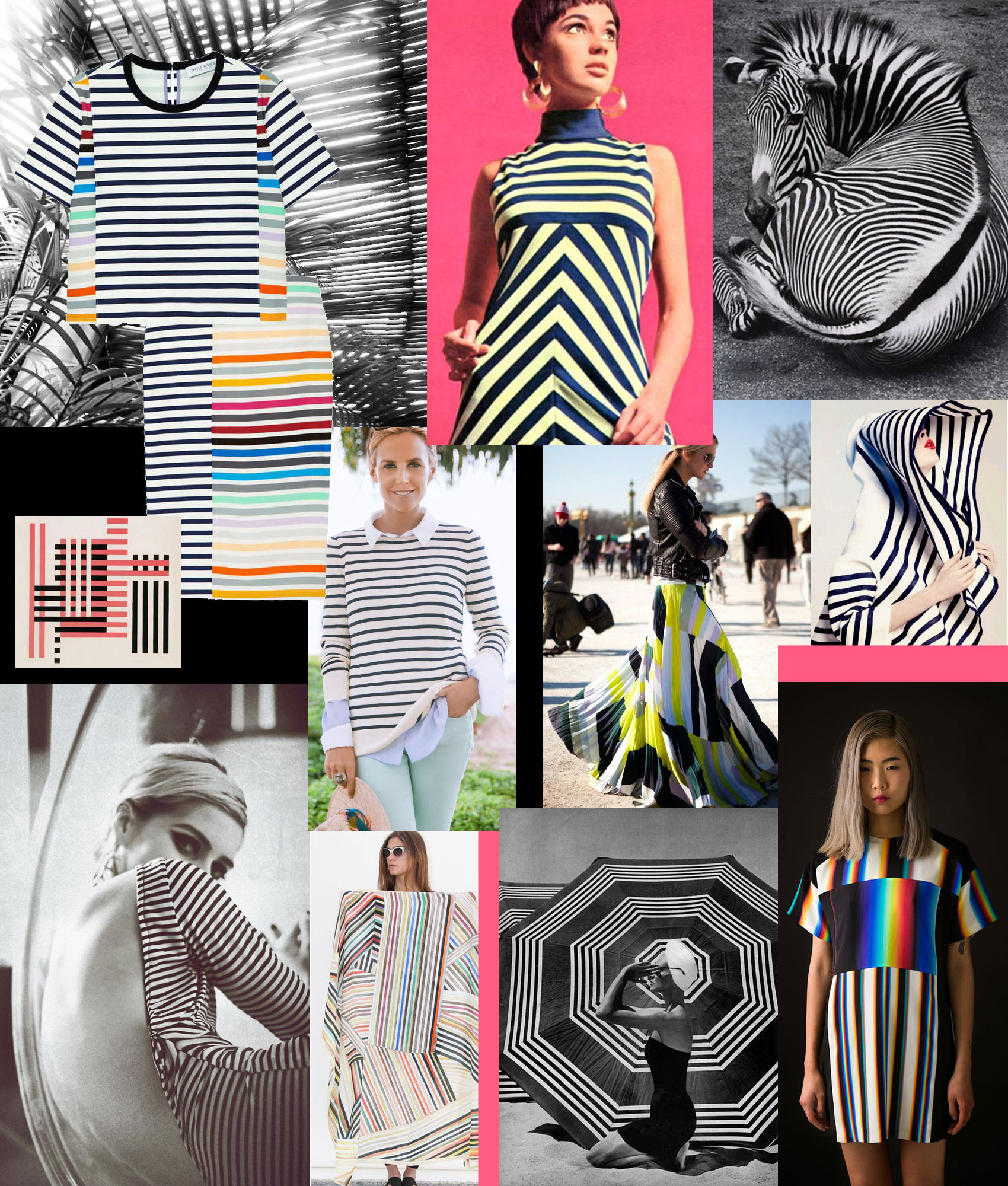 A Striped Collage by Liz Nehdi, 2014