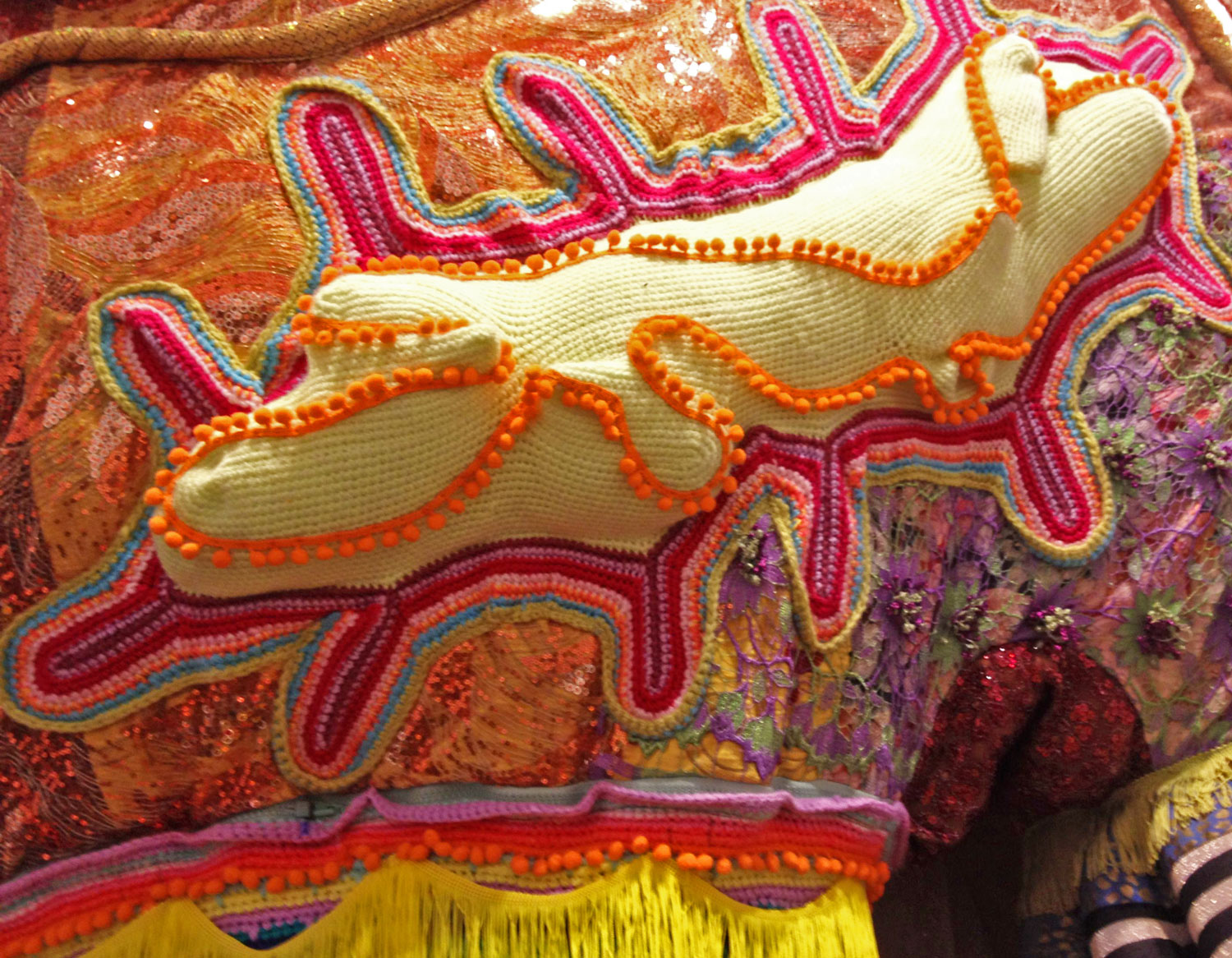Detail of work by Joana Vasconcelos