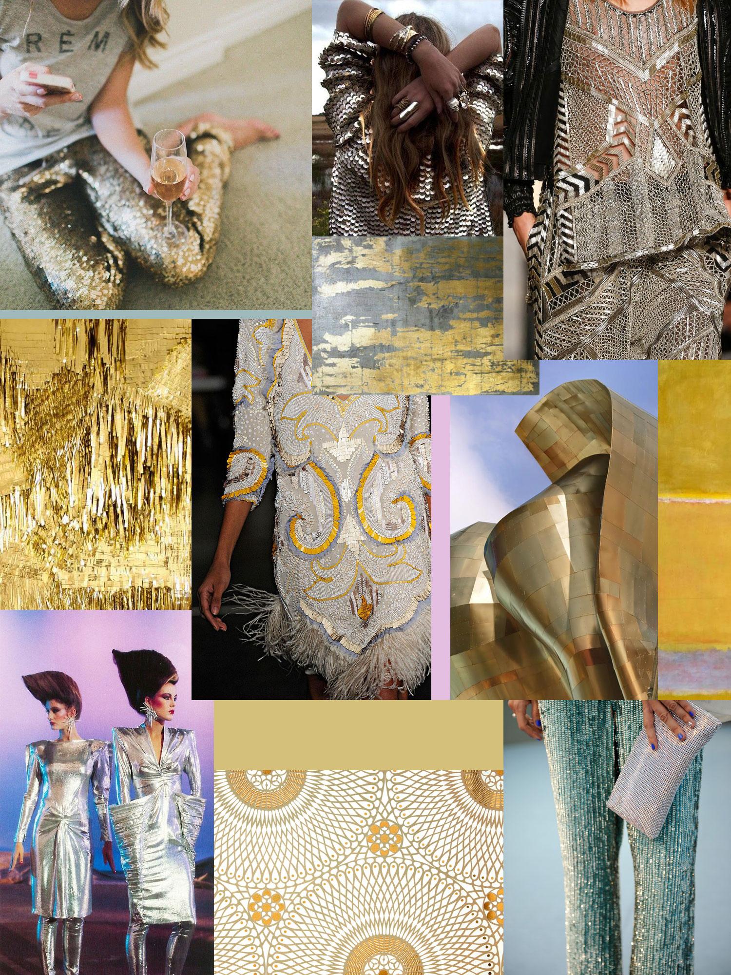 Metallics Collage by Liz Nehdi, 2014