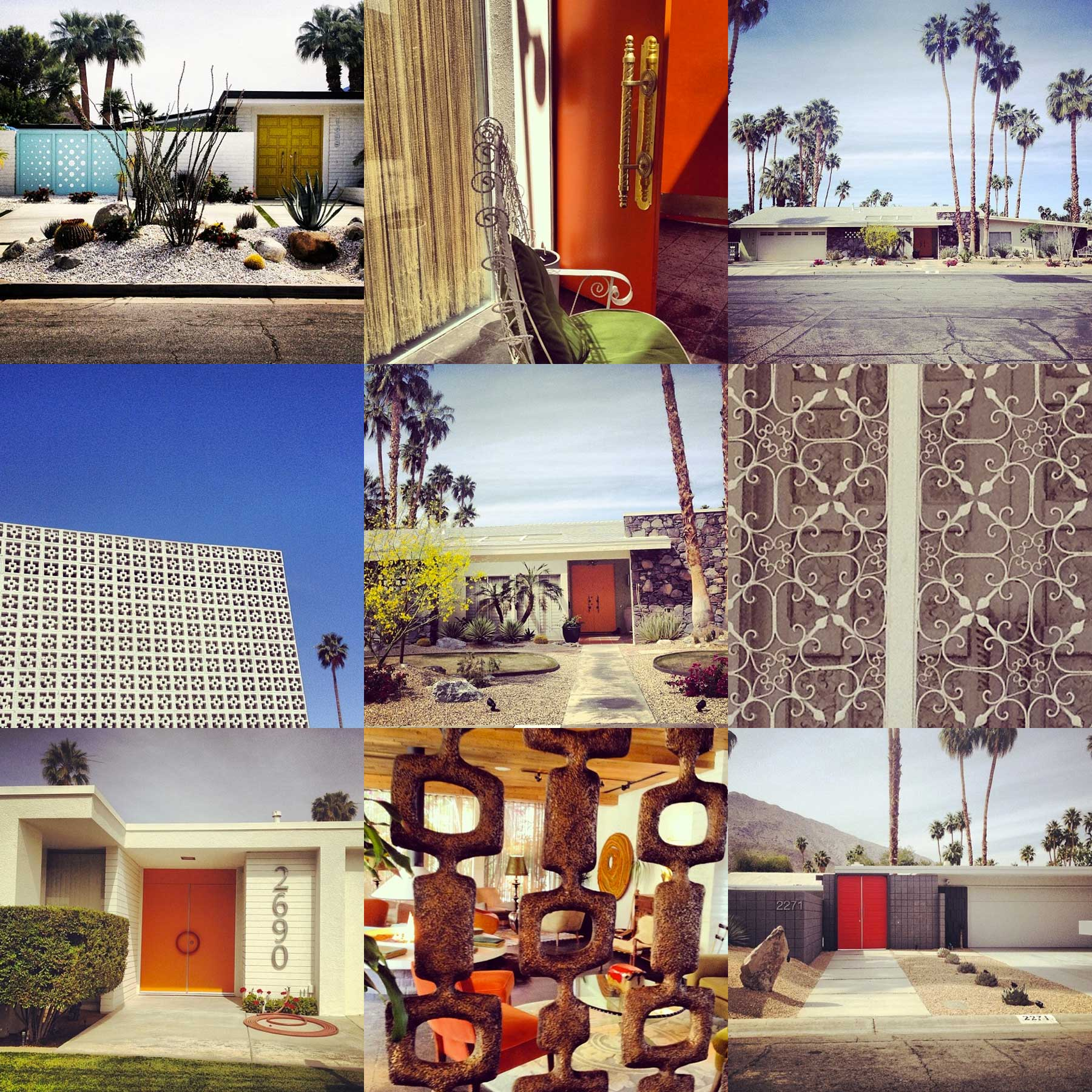 Midcentury Modern Love: Palm Springs Edition Collage by Liz Nehdi