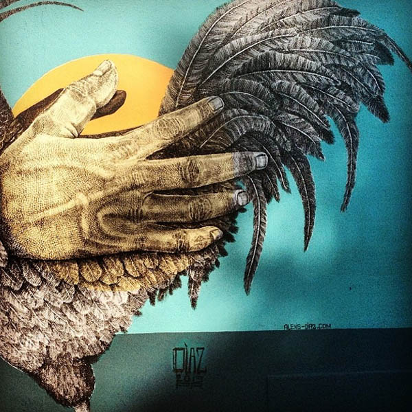 Beautiful mural by  Alexis Diaz  at Roosterfish