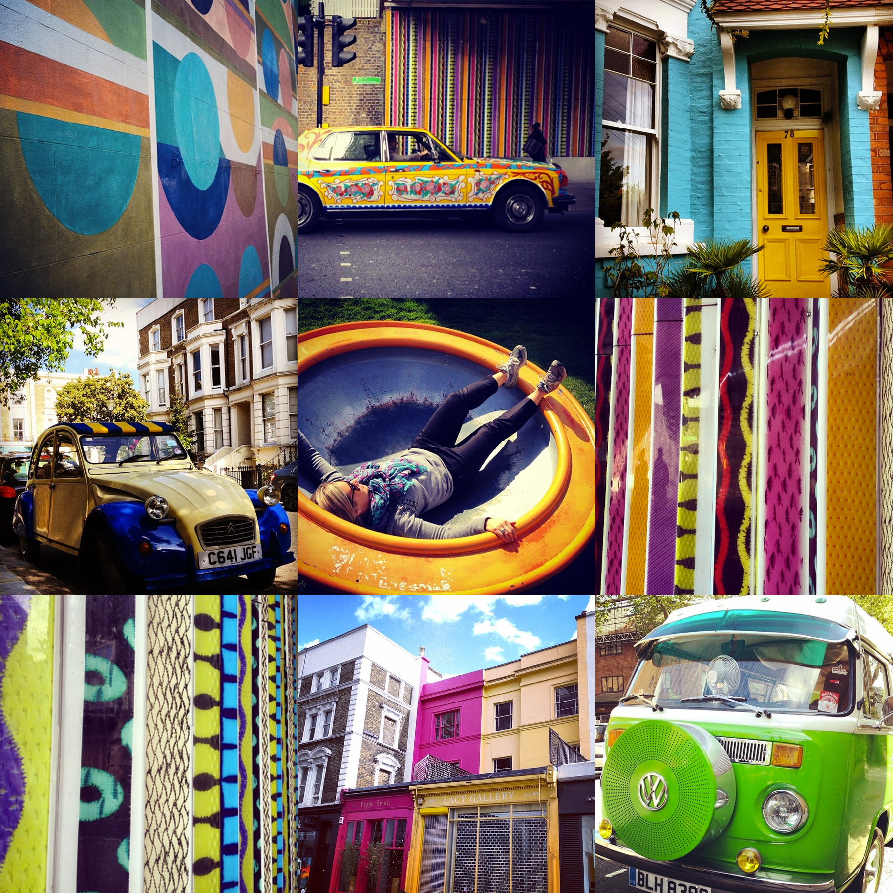 Bright and bold sights in Notting Hill, Liz Nehdi 2014