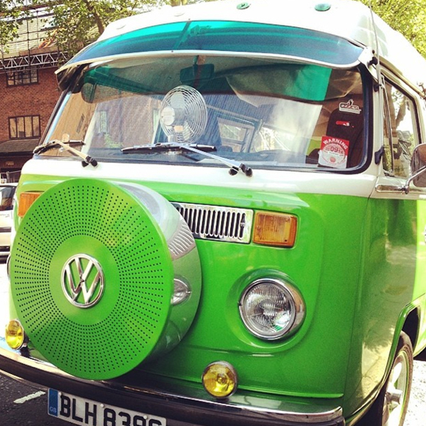This VW camper van has seriously cool attitude
