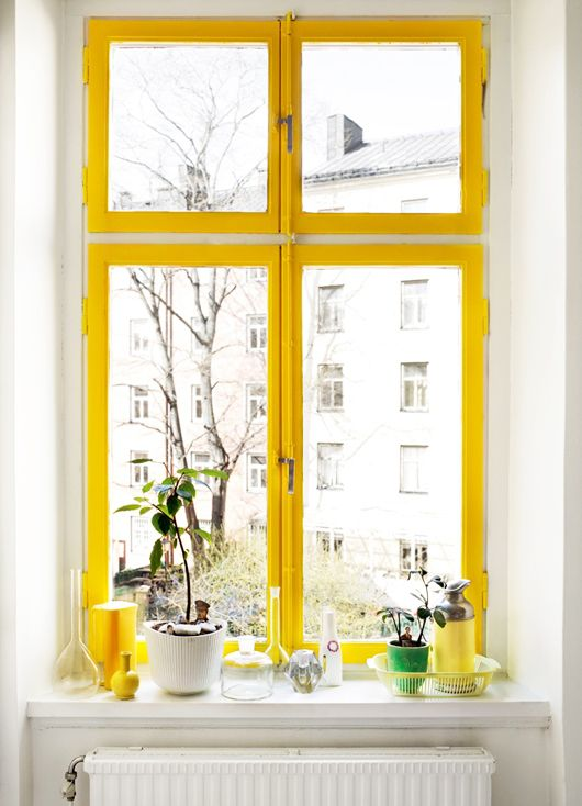 Yellow window via  Designspiration