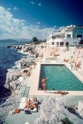 Iconic photo of the Hotel du Cap by Slim Aarons via the  Wall Street Journal