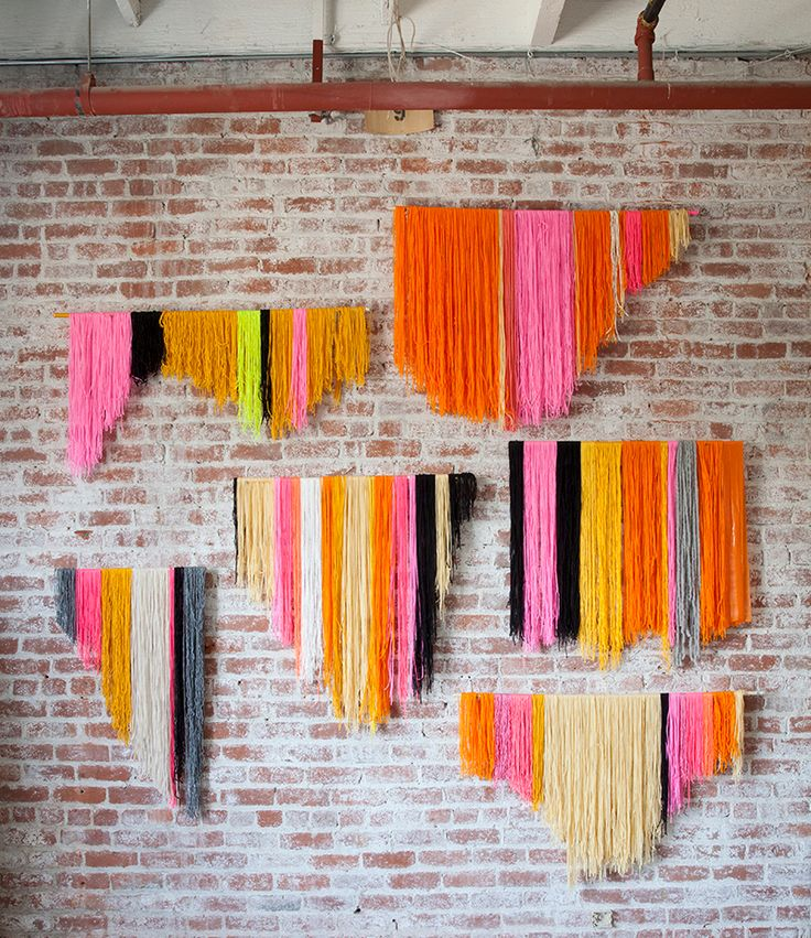 Wool wall art + tutorial via  RecyclArt