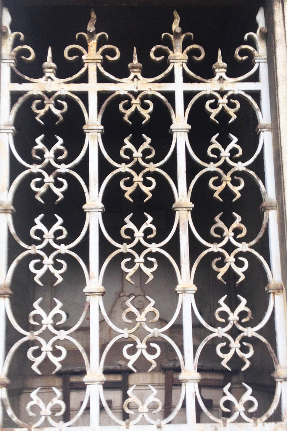 The pattern motif in this gate has an almost sinister feel to it