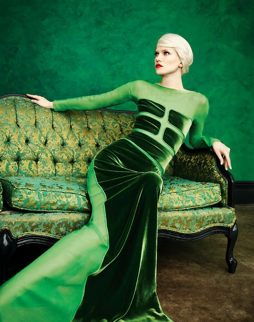 Glam Green Scene via Kelly Wearstler's  My Vibe My Life