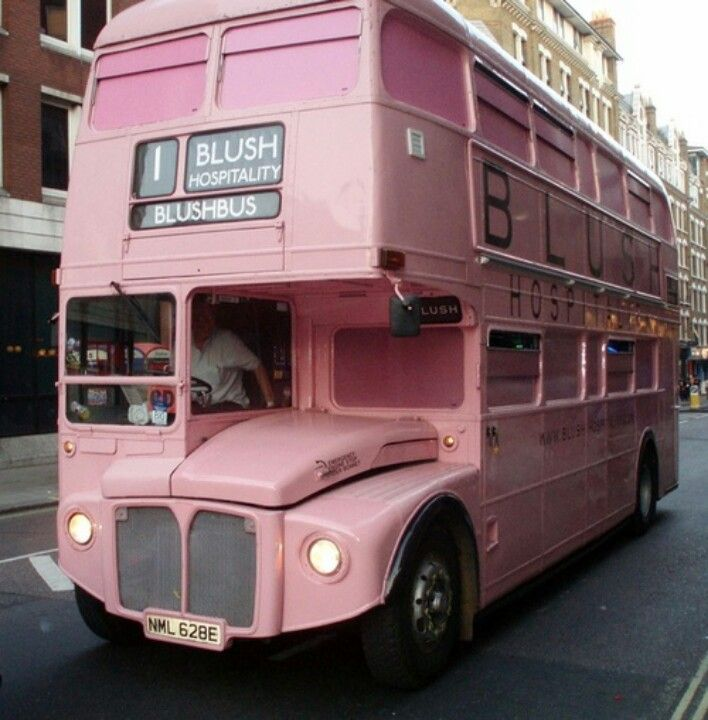 Where else will you find a Blush bus?