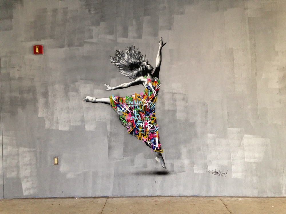 "Martin Whatson's ""Dancer"" at the Jose de Diego Middle School in Wynwood."