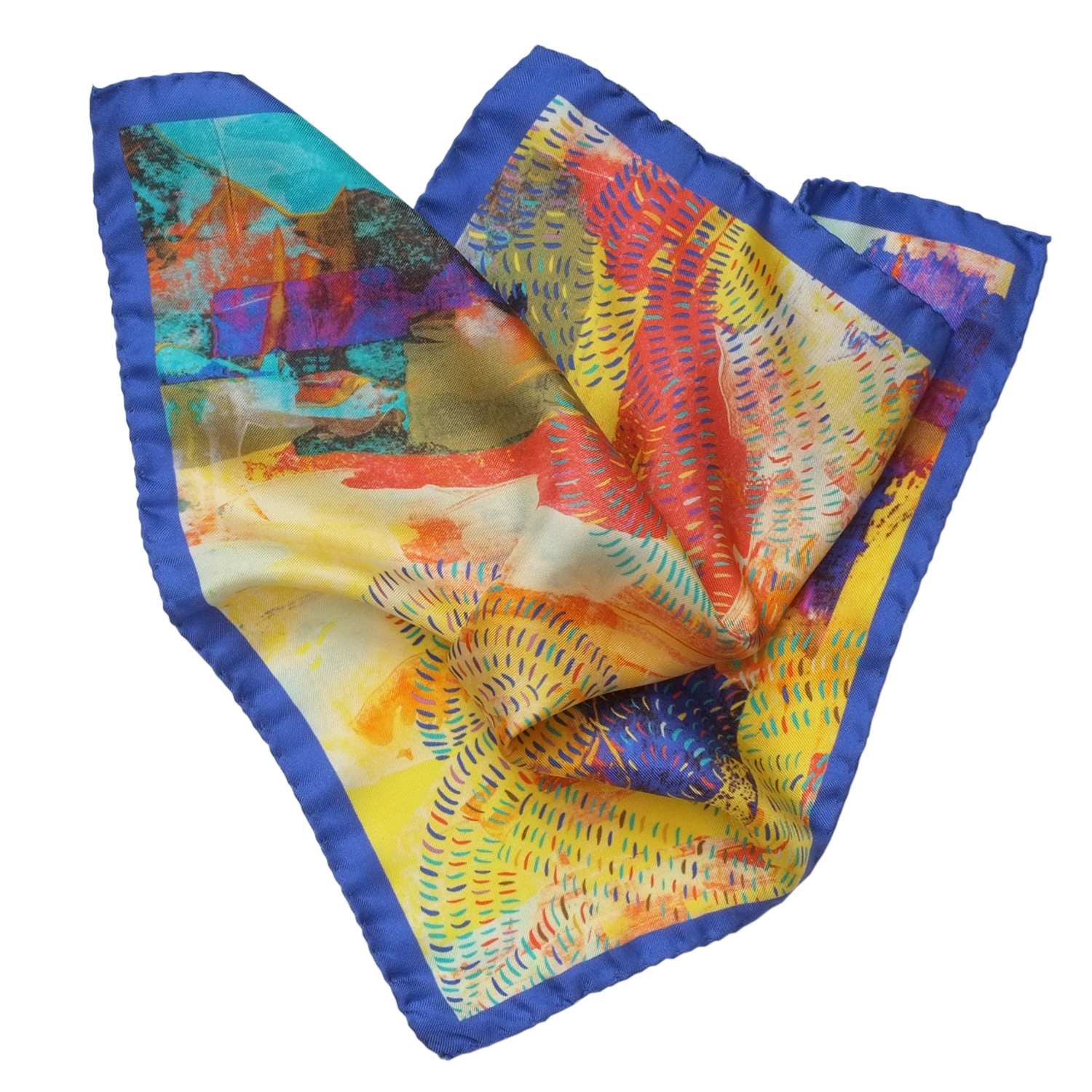 Shop the Meandering Huang He Pocket Square