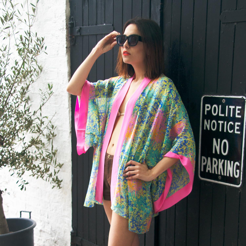 Our Sol y la Vida silk kimono