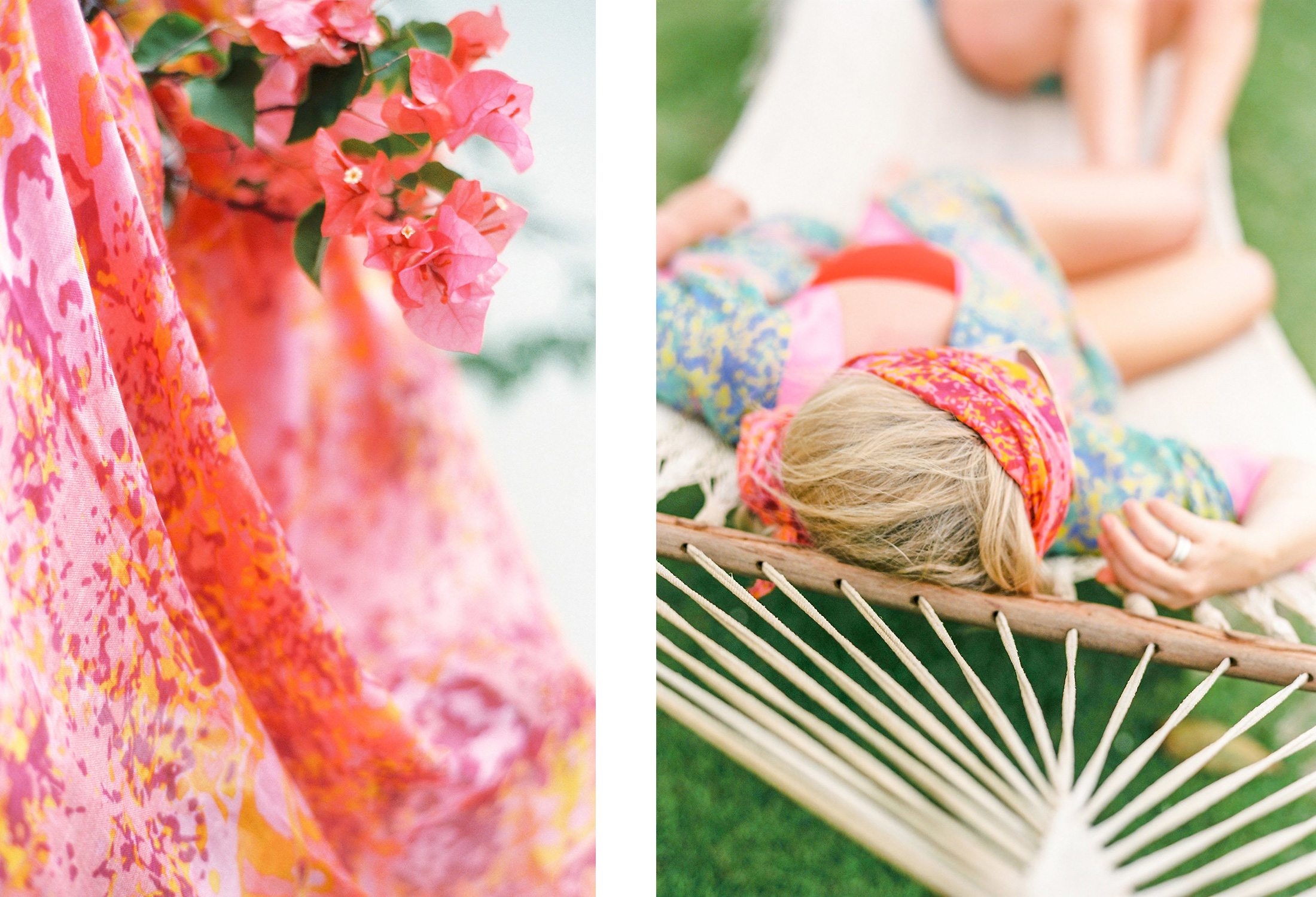Pictured above: our  Fleur de Montserrat scarf  and  Sol y la Vida kimono