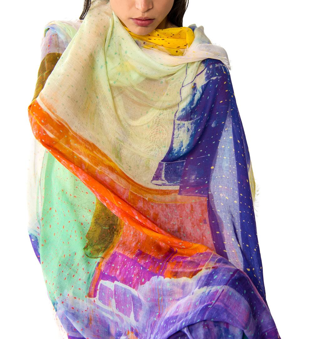 Saint-Remy scarf // £175