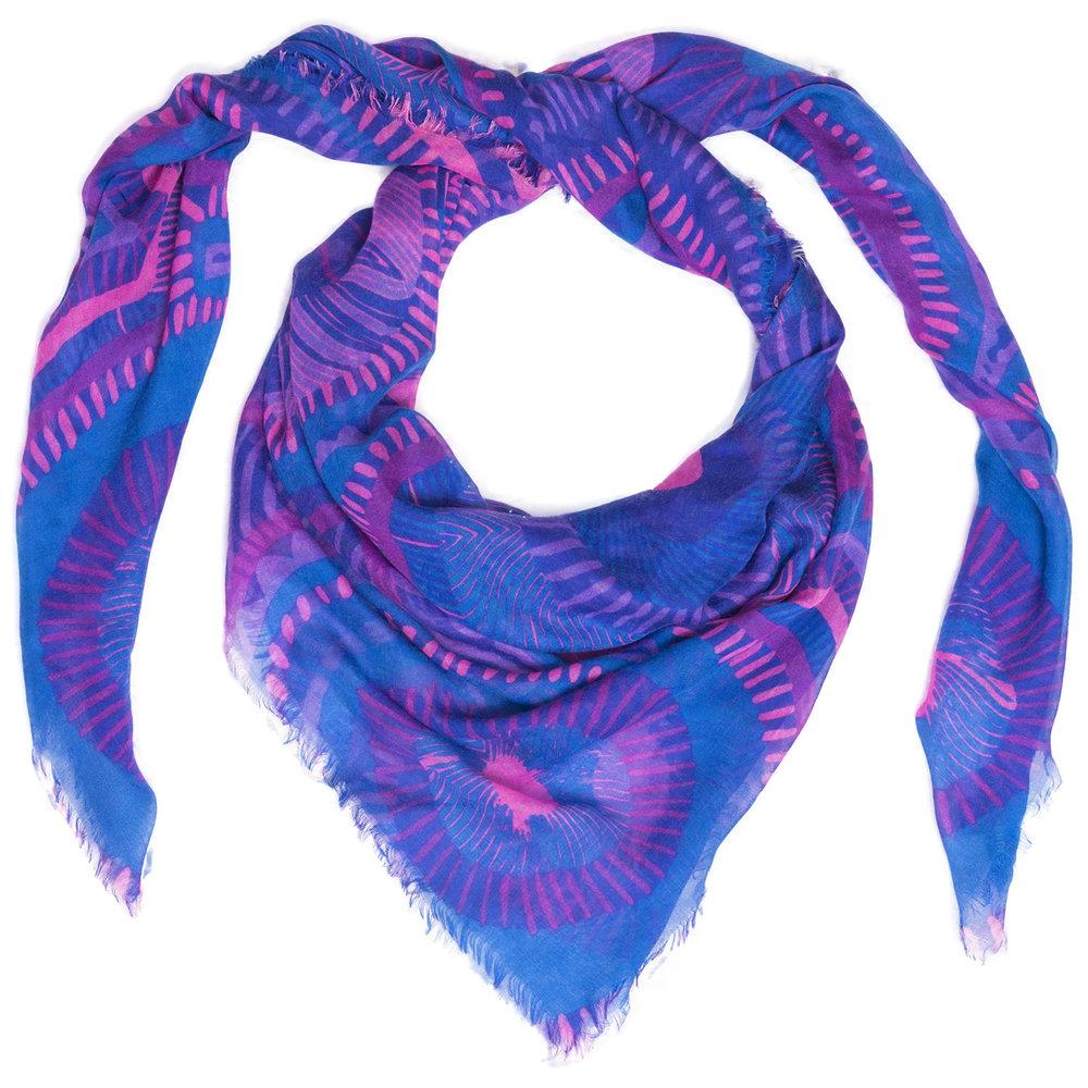 Lapis Voyeur scarf by Liz Nehdi