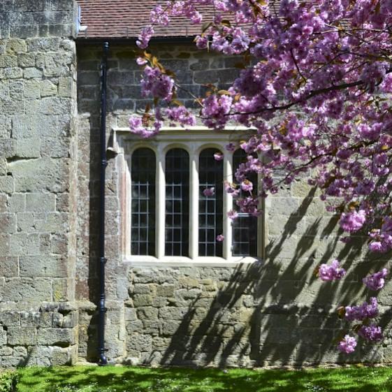 Stone mullioned window