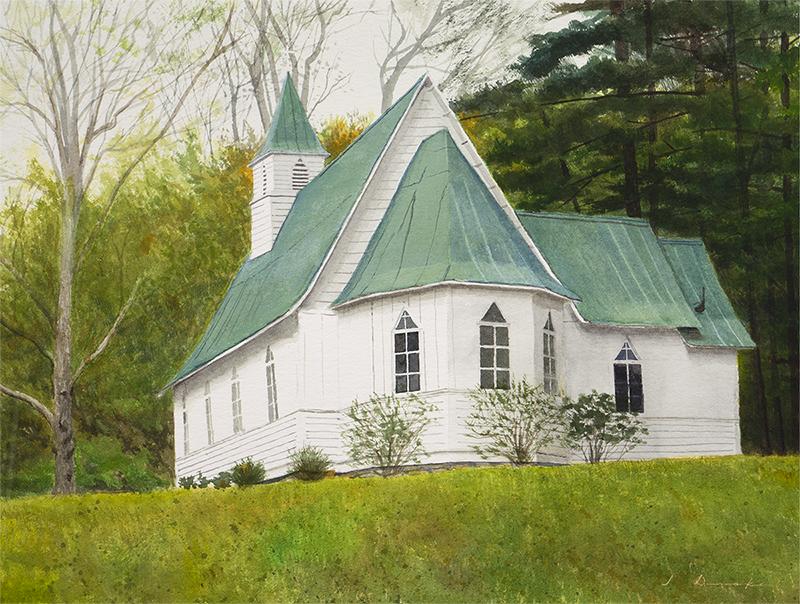 St. John's - watercolor, SOLD