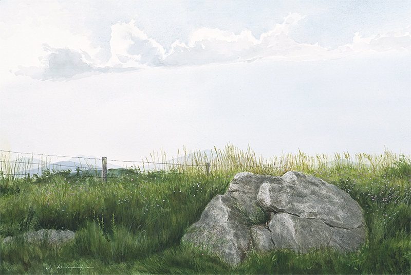 Thunderhill Overlook - watercolor -  SOLD