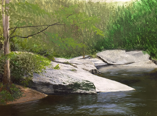Study for River Bend - 9 x 12 in.