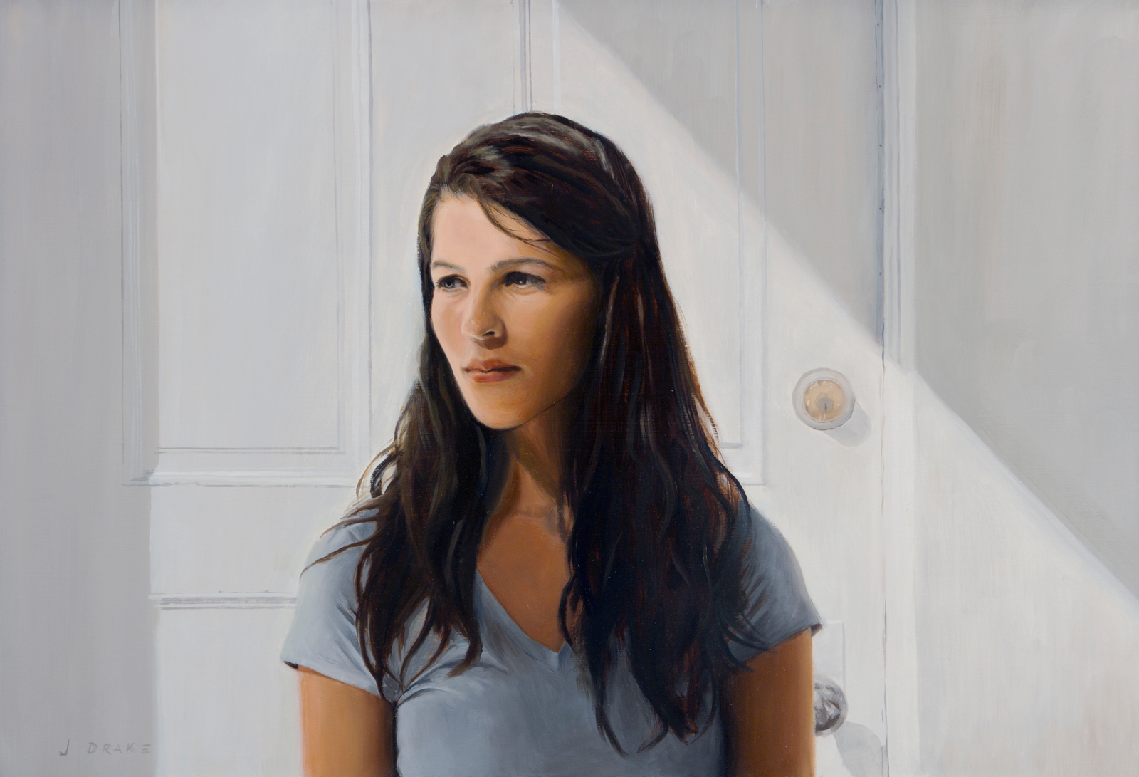 Maggie - oil on panel, 20 x 30""