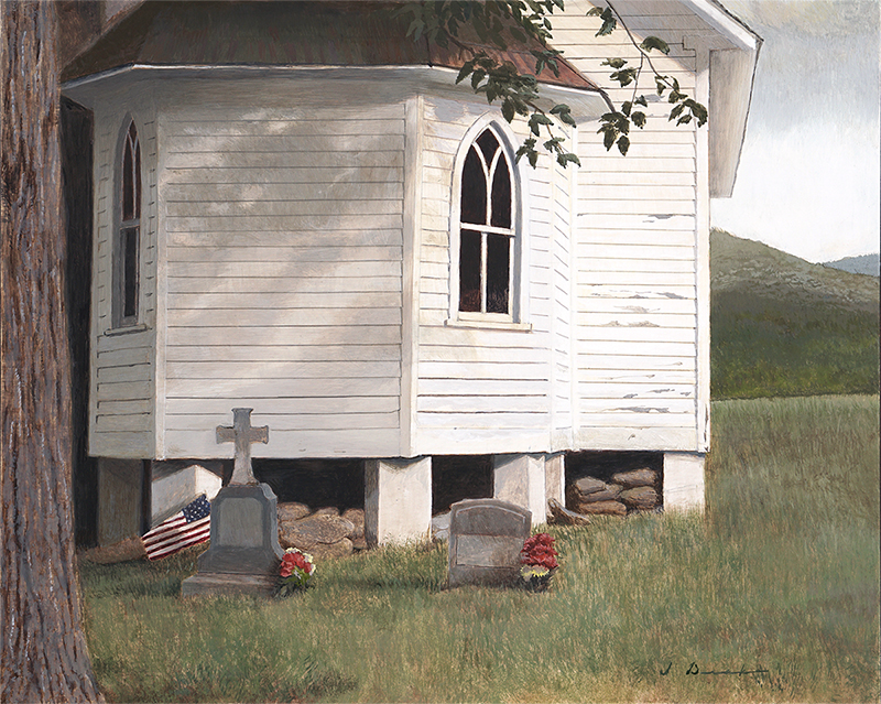 "Memorial Day    - 12 x 16"", egg tempera on panel Sold"