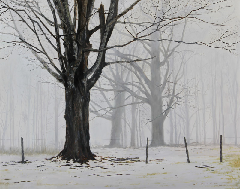 "Giants in the Mist    - 24 x 30.5"", oil Sold"