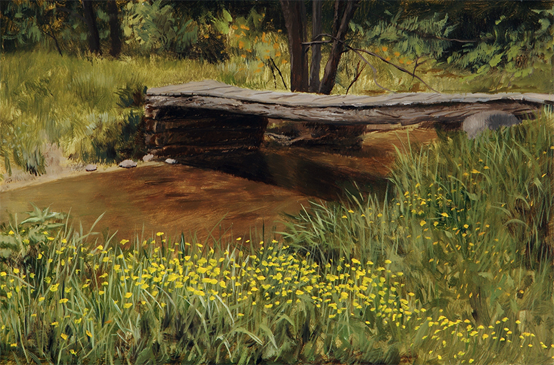 "Creekside Blooms    - 8 x 12"", oil Sold"