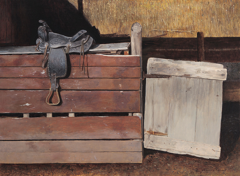 "Saddle Up    - 18 x 24"", oil Sold"