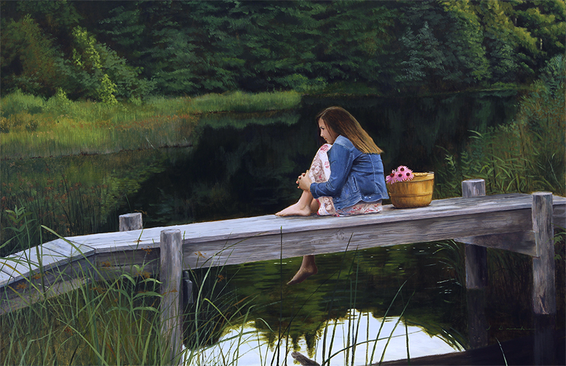 "Evening Solitude    - oil, 26 x 40"" *Sold"