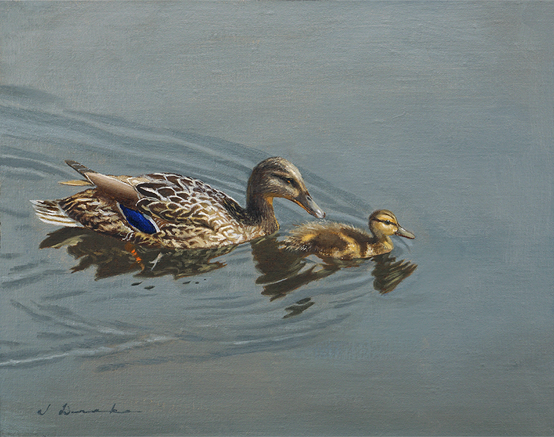 "Mother's Day    - oil on linen, 11 x 14"" Sold"