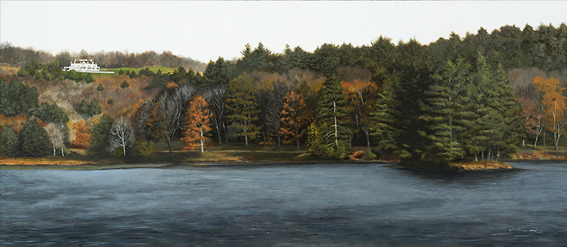 "Brisk October Day    - oil, 15.75 x 36"" Sold"