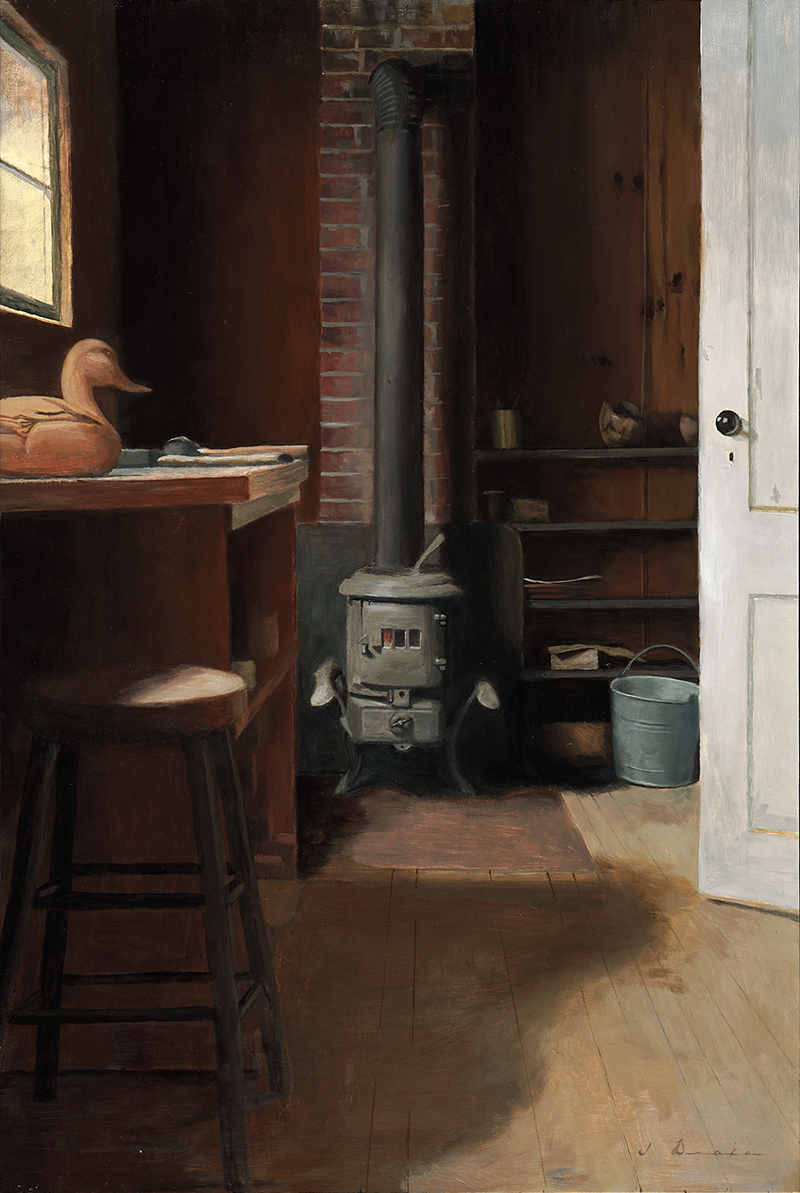 "The Old Wood Stove    - oil, 24 x 16"" Sold"