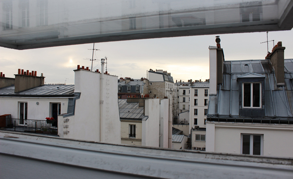The view from my apartment's skylight, overlooking the 11ème arrondisement