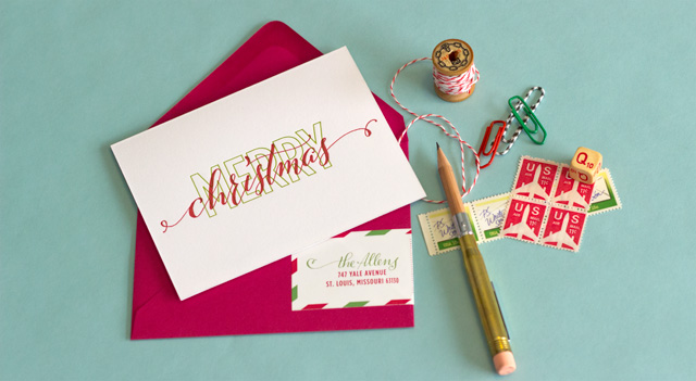 Easy Merry Christmas Card | Handmade Calligraphy Christmas Cards You Can DIY | Handmade Calligraphy Christmas Cards | calligraphy fonts