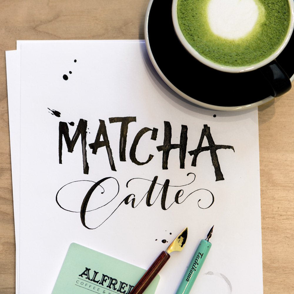 Alfred Coffee Calligraphy