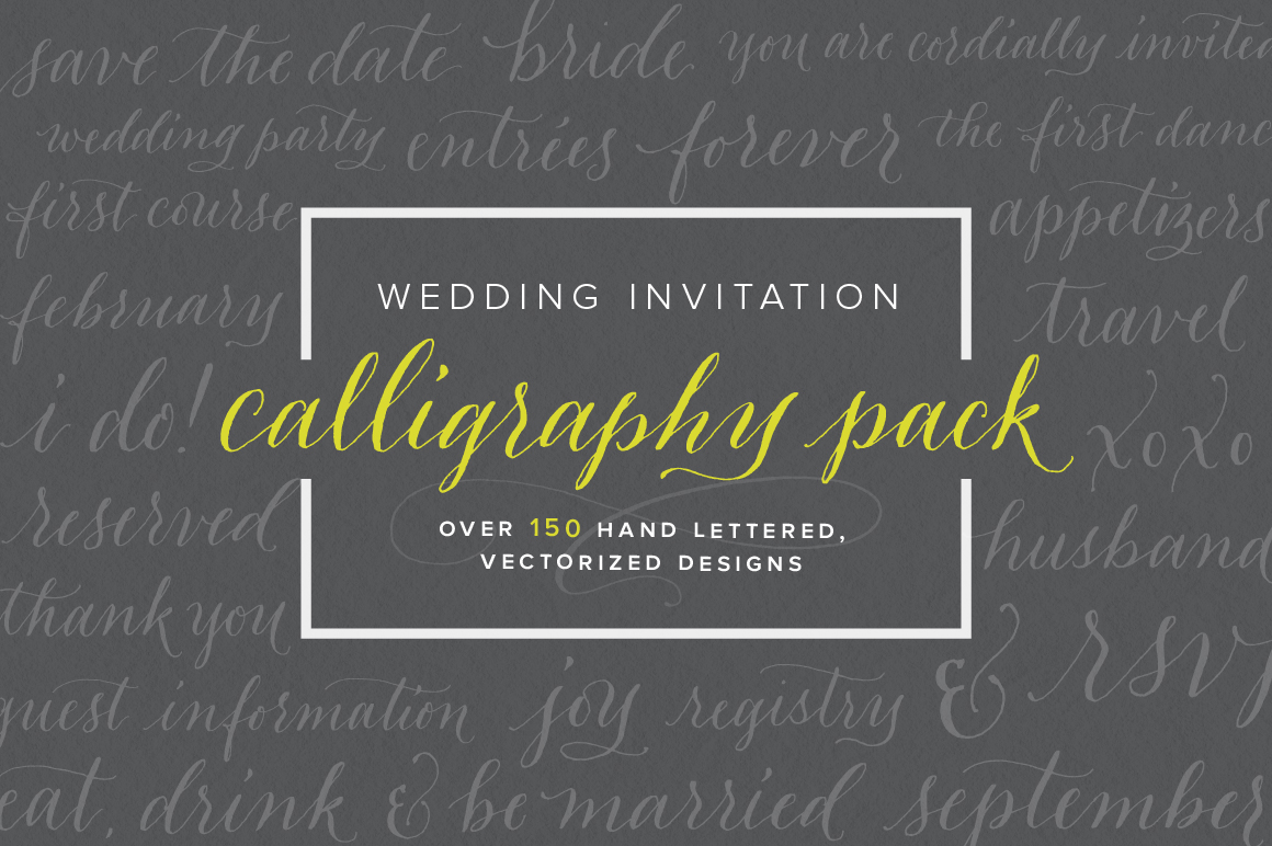 Wedding Invitation Calligraphy Pack