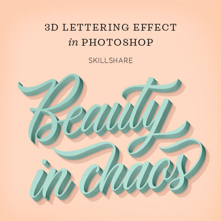 3D Lettering Effect in Photoshop