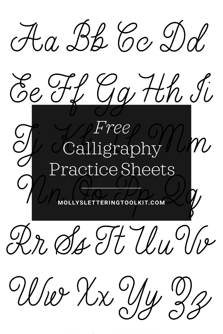 Free Calligraphy Practice Sheets: Everlasting Monoline Style Molly Suber  Thorpe