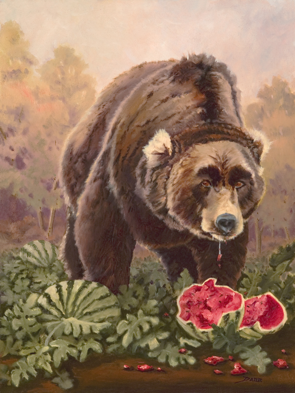 """Bear in a Watermelon Patch"""