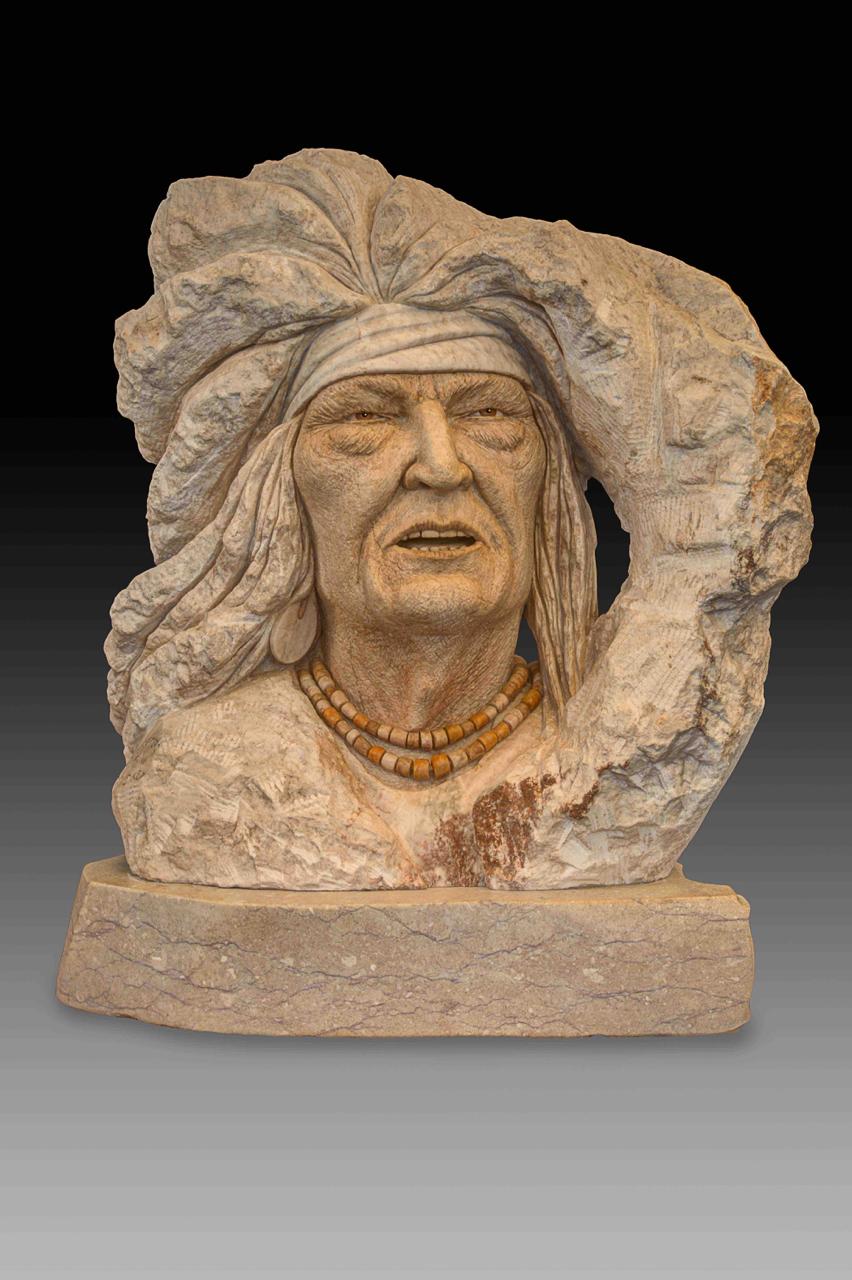 """""""Apache Warrior"""" H26 x W24 x D12"""