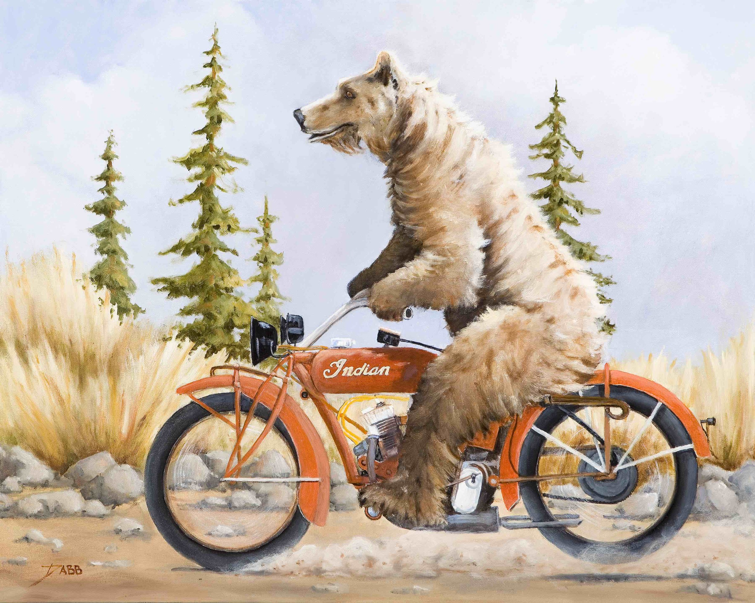 """Motorcycle Bear"""