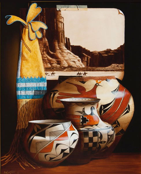 """""""Canyon de Chelly and cheyenne tobacco bag"""""""